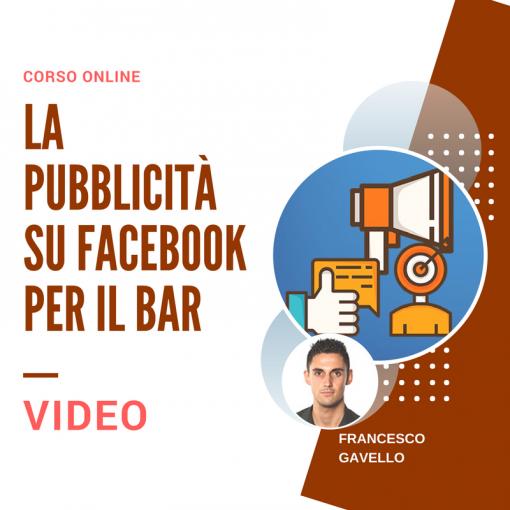 La pubblicità su Facebook per il Bar