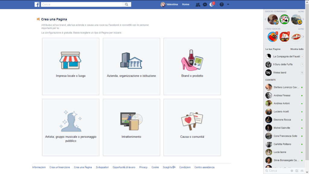 Creare una pagina Facebook per un bar